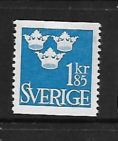 SWEDEN, 658, MINT HINGED, CROWN TYPE