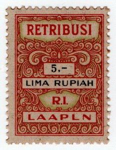 (I.B) Indonesia Revenue : Judicial Fee 5R (Retribusi)
