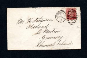 PENNY RED PLATE 186 USED ON COVER WITH 'A&NCSL' PERFIN