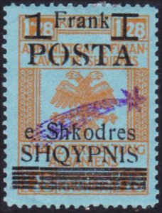 Albania #104 MH early overprints