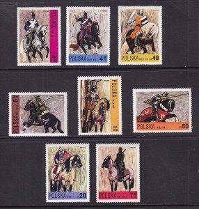 Poland   #1946-1953    MNH  1972    horses  Polish cavalry