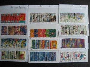 Netherlands 12 complete December, Xmas sets used, 1996-2008 missing 1998