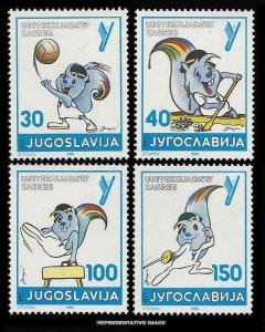 Yugoslavia Scott 1817-1820 Mint never hinged.