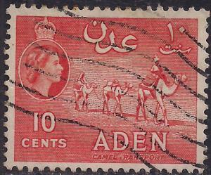 Aden 1953 - 63 QE2 10ct. Vermilion SG 51  ( F1482 )