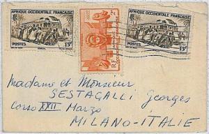 TRAINS - AFRIQUE OCCIDENTALE FRANCAISE \ SENEGAL -  POSTAL HISTORY COVER 1953