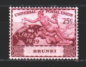 Brunei. 1949. 76 of the series. 75 years of UPU. MLH.