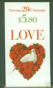 USA Scott 2814a 1994 Love Booklet BC99 CV $14.00
