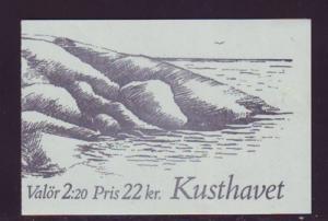 Sweden Sc 1679a 1988 Bird & Seal stamp bklt pane NH