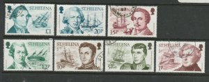 St Helena 1986 Explorers Defs 7 vals to £1 as shown, FU
