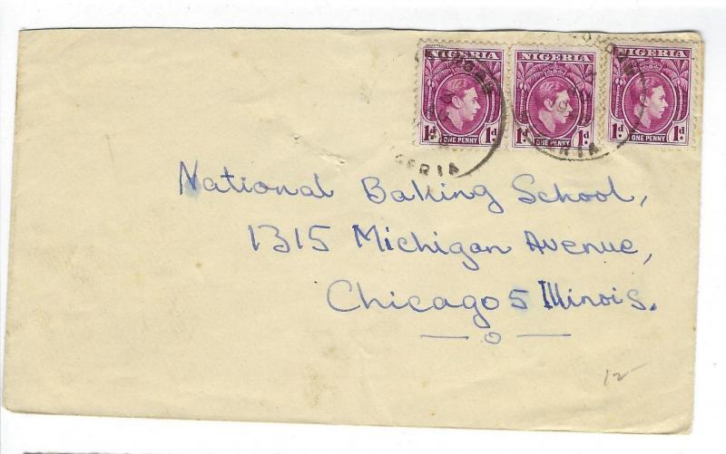 1948 British Nigeria To USA Cover (EE36)