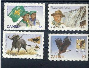 1982 Zambia 70th anniversary of Boy Scouts