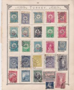 Turkey Stamps on Album Page ref R 18985