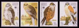 Malta WWF Migratory Birds of Prey 4v SG#898-901 SC#779-782 MI#864-867