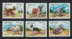 Laos Dogs 6v SG#591-596 SC#405-410