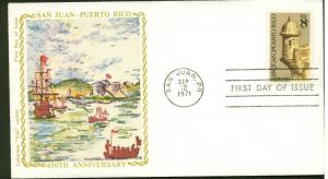 1437 SAN JUAN, PUERTO RICO FDC  COLORANO SILK CACHET