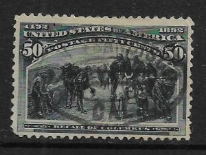 US 240   USED,  RECALL OF COLUMBUS ISSUE 1893