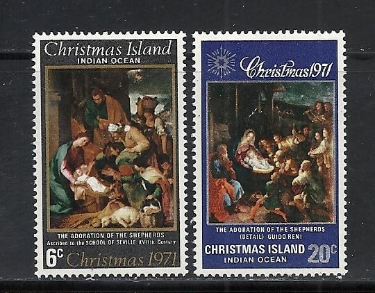 Christmas Island #37-8 comp mint Scott cv $1.65 Christmas