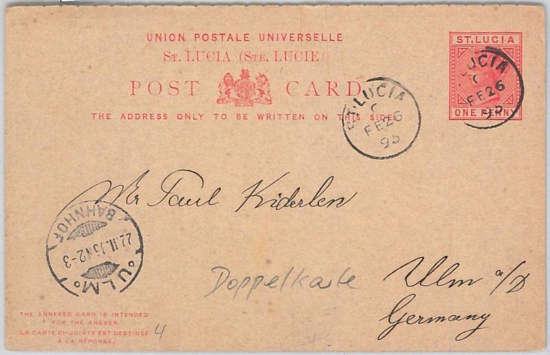 Postal History Barbados Postal Stationery Registered Cover