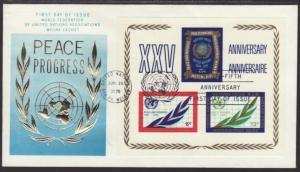 UN New York 212 Anniversary WFUNA U/A FDC