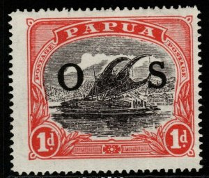 PAPUA SGO56 1931 1d INTENSE BLACK & RED MTD MINT