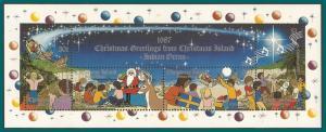 Christmas Island 1987 Christmas, MS, MNH  #212,SGMS245
