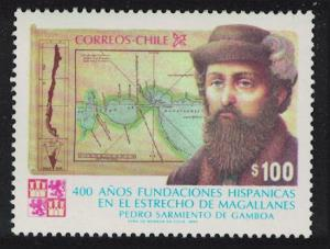 Chile 400th Anniversary of Spanish Settlements on Straits of Magellan 1v SG#988