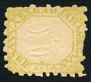 Bhopal SG26 4a yellow on laid paper Perf