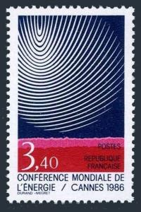France 2024,MNH.Mi 2578. World Energy Conference,Cannes 1986.