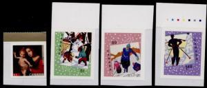 Canada 2183-6 MNH Christmas, Madonna & Child, Snowman, Skiing