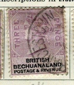 BECHUANALAND; 1887 early classic QV issue fine used 3d. value