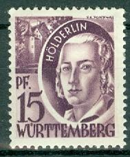Germany - French Occupation - Wurttemberg - Scott 8N5 (SP)