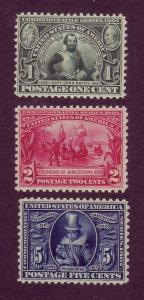 328-330 MNH, Jamestown Set,  scv: $440
