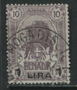 Italian Somaliland 1906 overprinted 1 lira used