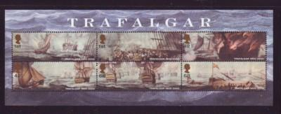 Great Britain Sc 2326c 2005 Trafalgar stamp sheet mint NH