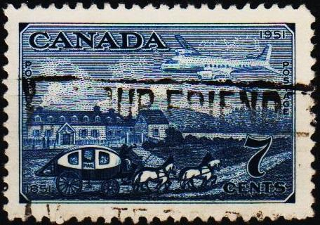 Canada. 1951 7c S.G.438 Fine Used