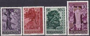 Liechtenstein #332-5  F-VF Unused  CV $8.00 (Z5180)