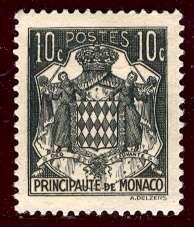 Monaco 1943: Sc. # 149A; */MH Single Stamp
