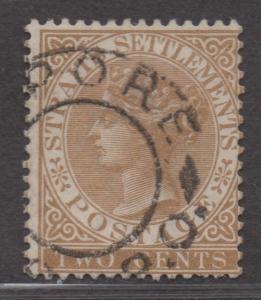 **Straits Settlement SC# 40, Used, CV $52.50