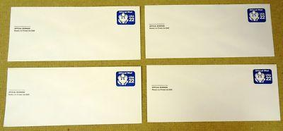U074, 22c U.S. Postage Envelope Set Offical Buisness qt