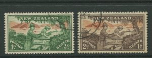 STAMP STATION PERTH New Zealand #B28-B29 Semi Postal Issue  FU 1946 CV$0.75