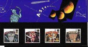 Great Britain 1990 Astronomy (4) Presentation Pack Post Office Fresh SGPP184