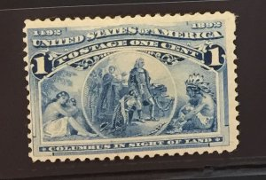 US #230 MHOG F - Columbus in Sight of Land 1892 1c