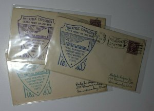 Philatelic Exposition 1932 Cedar Point Station Sandusky OH 150 cancel 1933 Cover