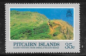 Pitcairn Islands 201: 35c Radio station from Pawal valley ridge, MH, F-VF