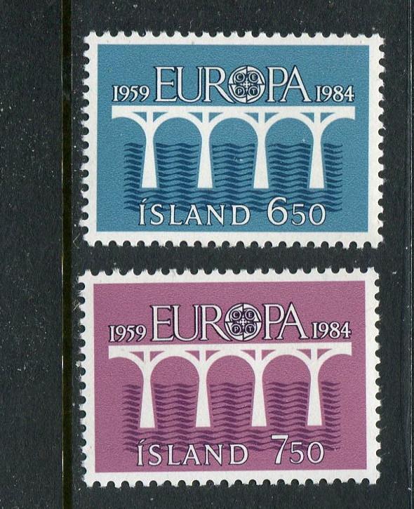 Iceland #388-9 MNH 1984 Europa