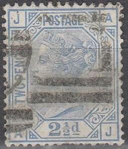 Great Britain #68 Plate 20 F-VF Used CV $65.00  (C6203)