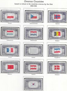 US #909 -921 Overrun Countries-set complete (MNH) CV $3.75