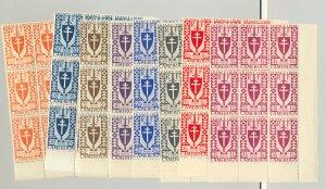 Cameroun #282-295, 297A-303 22v Blocks of 9