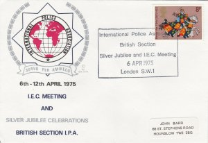 GBP117) FDC GB 1975, Celebrating the Silver Jubilee of the British Section & IEC