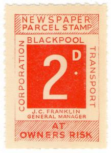 (I.B) Blackpool Corporation Railway : Newspaper Parcel 2d
